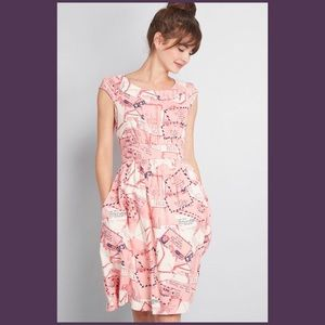Modcloth Pink 💗 Love Letters Dress Size 1X NWT